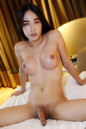 18yo Thai ladyboy gets fucked by big white cock