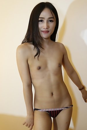 22yo Thai ladyboy fucks and sucks off white cock