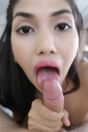 20 year old Thai ladyboy has a blowjob and a bath with tourist