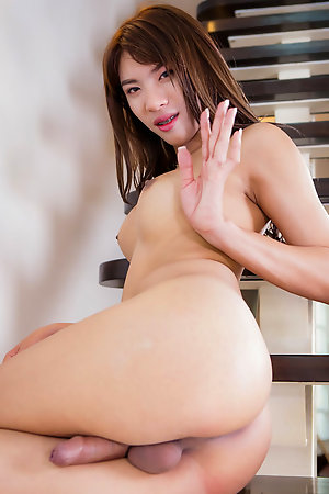 Poy is a hot Bangkok tgirl with an amazing body, nice boobs, a sexy round butt and a long hard cock!