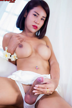 Cartoon Candy is a gorgeous young tgirl with an amazing body, big perky tits, a sexy ass and a delicious uncut cock!