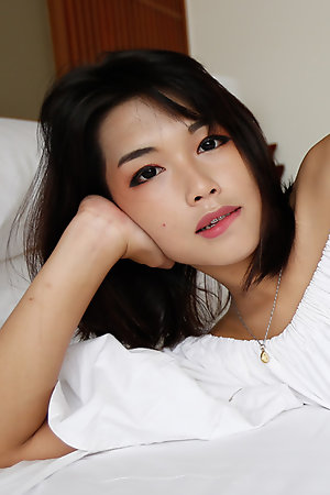 19yo pretty Thai ladyboy takes a white cock